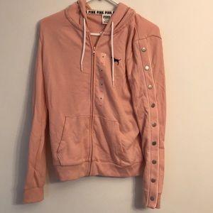 Victoria's Secret Pink zip front hooded jacket M
